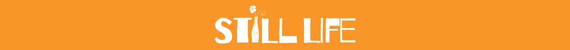 The Still Life logo on an orange background