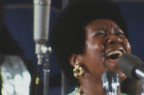 Aretha Frankling in Amazing Grace movie