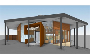 Refurbished Belgrave Library entrance