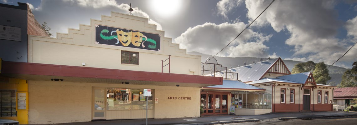 Front view of the Arts Centre from Warburton Highway