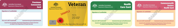 concession cards