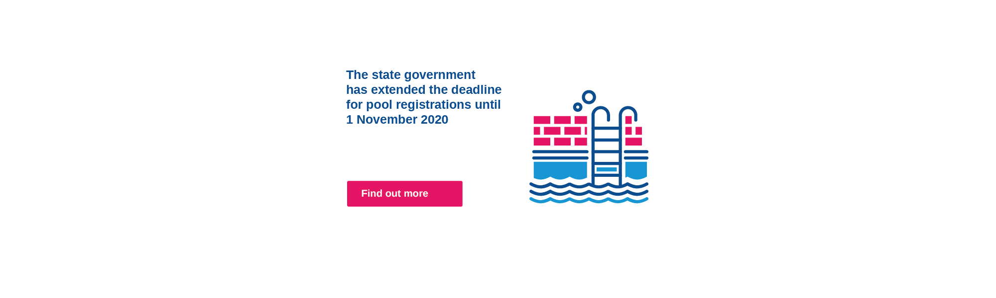 The state government has extended the date for pool registration to 1 November 2020