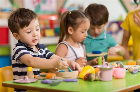 Children playing at preschool