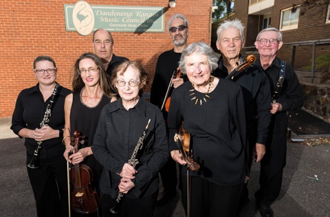 Members of the Dandenong Ranges Music Council received a small grant in 2018