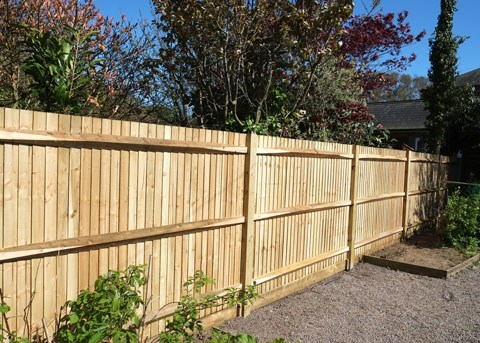 new timer paling side fence