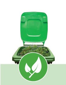 Light green green waste bin